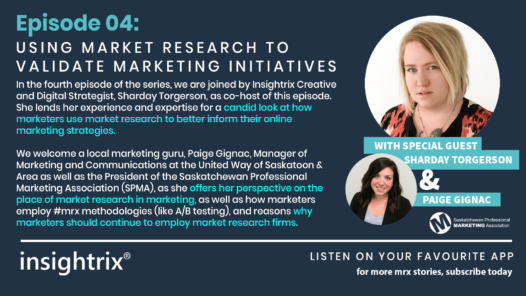 Podcast Episode 4 - Using Market Research to Validate Marketing Initiatives