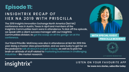 Podcast Episode 11 - Insightrix Recap of IIEX NA 2019 with Priscilla McKinney